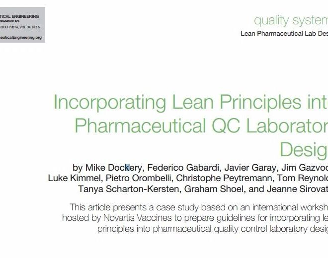 Incorporating Lean Principles into Pharmaceutical QC Laboratory Design II – PDF Dwonload
