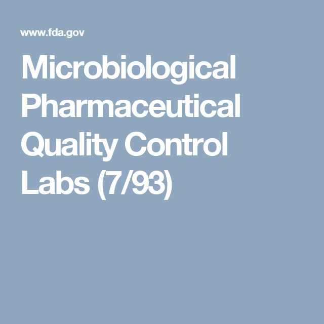 Microbiological Pharmaceutical Quality Control Labs | M A N O X B L O G