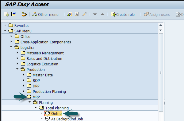 SAP PP – Material Requirement Planning