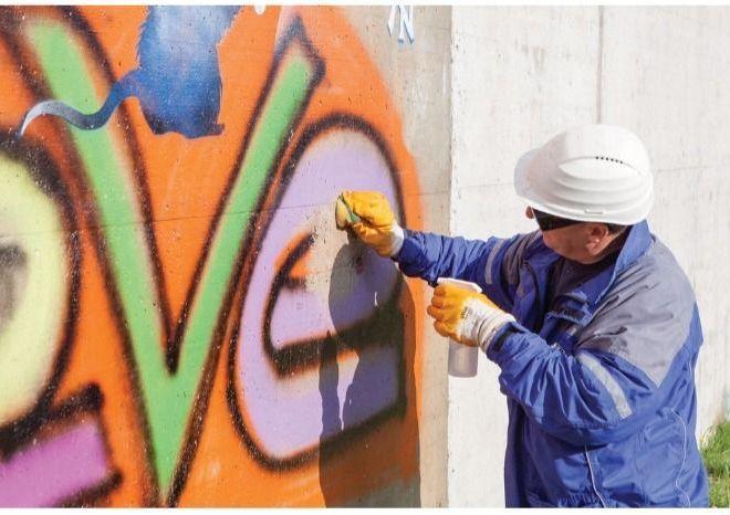 New water permeable anti-graffiti coating