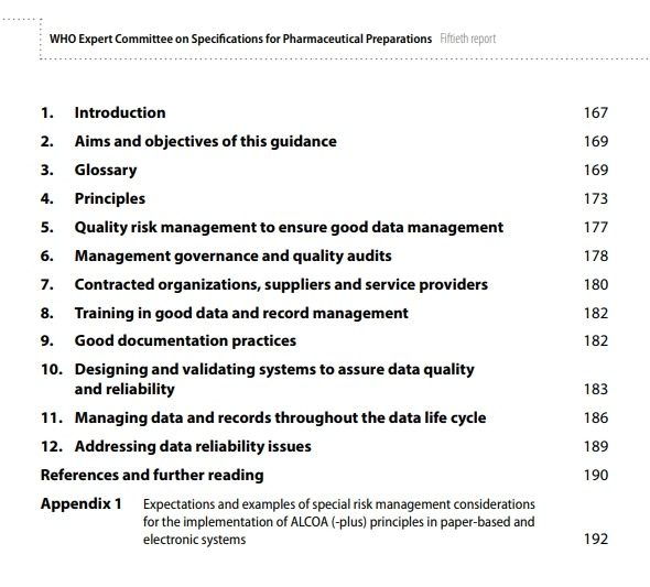Guidance on good data and record management practices (ALCOA