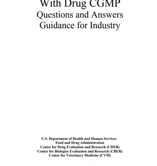 Data Integrity and Compliance With Drug CGMP (FDA – Dec 2018) – Free PDF Download