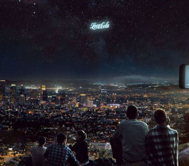 Launch Giant Glowing Ads Into the Night Sky