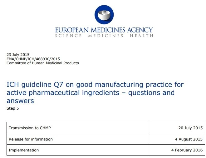 ICH guideline Q7 on good manufacturing practice – Free PDF download