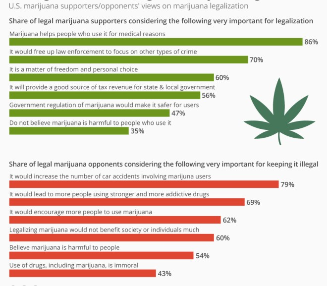 The Arguments For And Against Marijuana Legalization