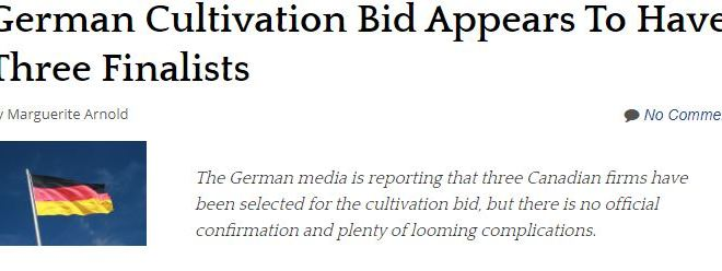 German Cultivation Bid Appears To Have Three Finalists