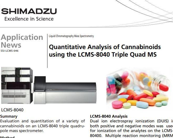 Quantitative Analysis of Cannabinoids using the LCMS-8040 Triple Quad MS