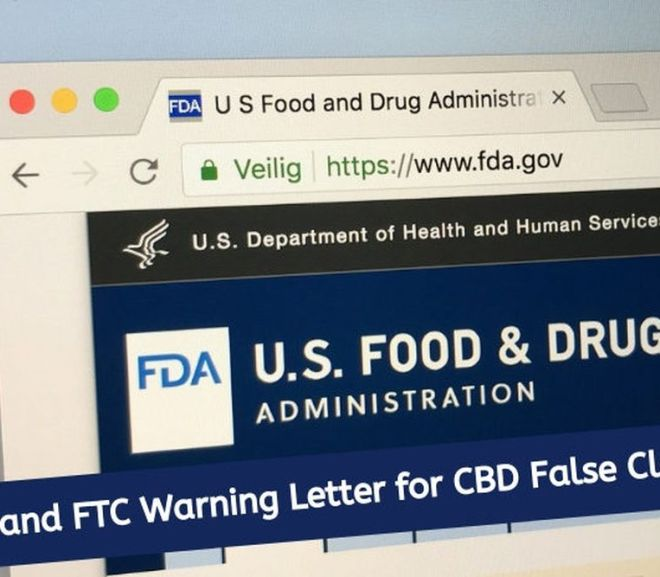 FDA says CBD not recognized as safe for food use, issues 15 warning letters