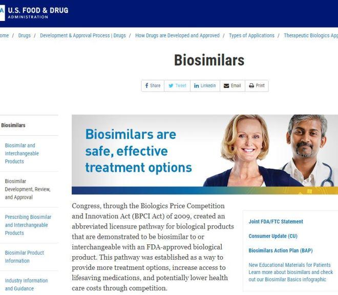 FDA: Biosimilars