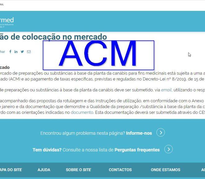 Autorização de colocação no mercado (ACM) – Cannabis
