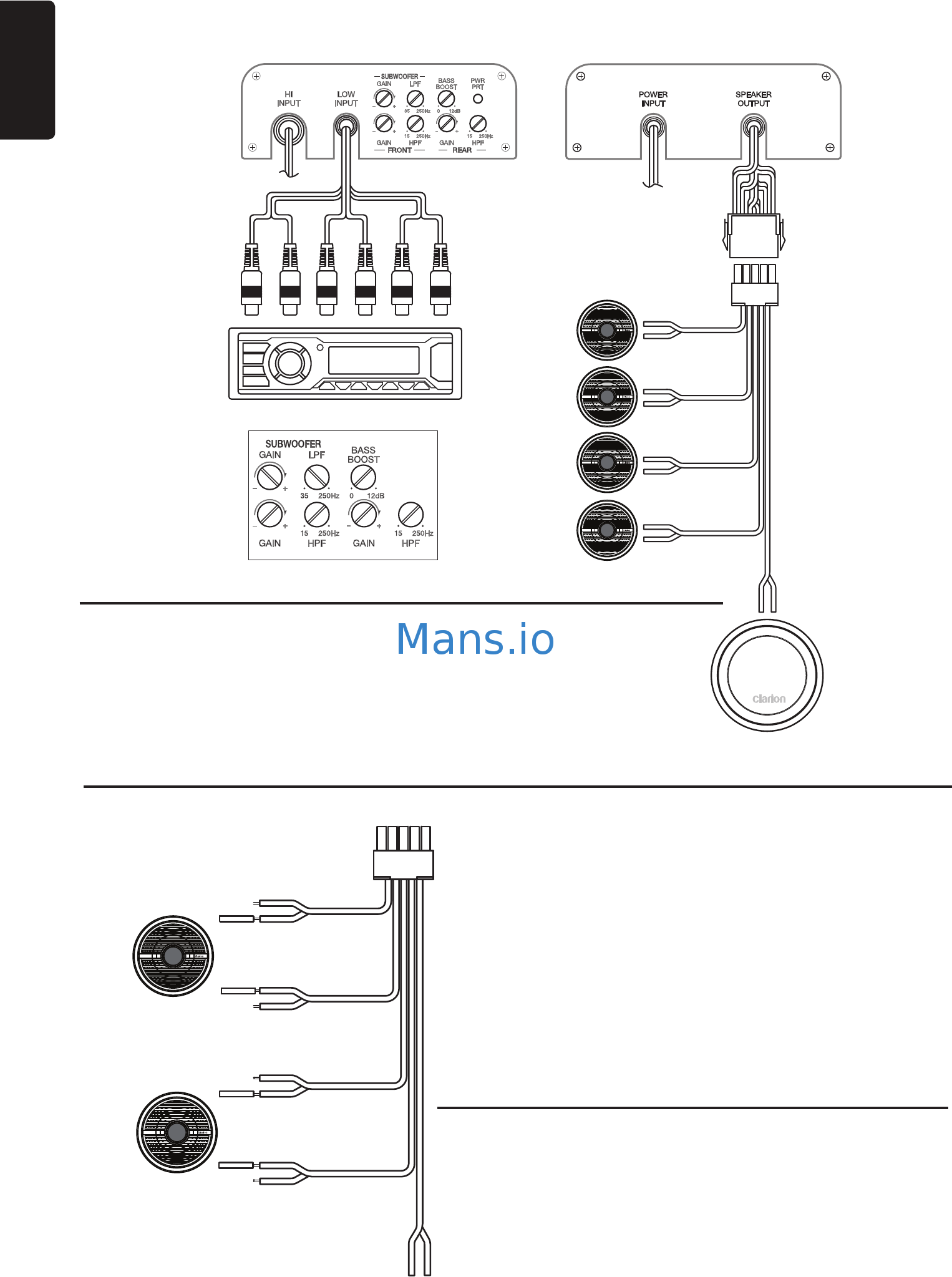 Clarion Xc Owner S Manual Amp Installation Manual Page 14