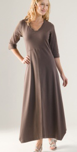 Wall brown dress