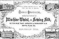 Hanks Brothers Silk Mill advertisement