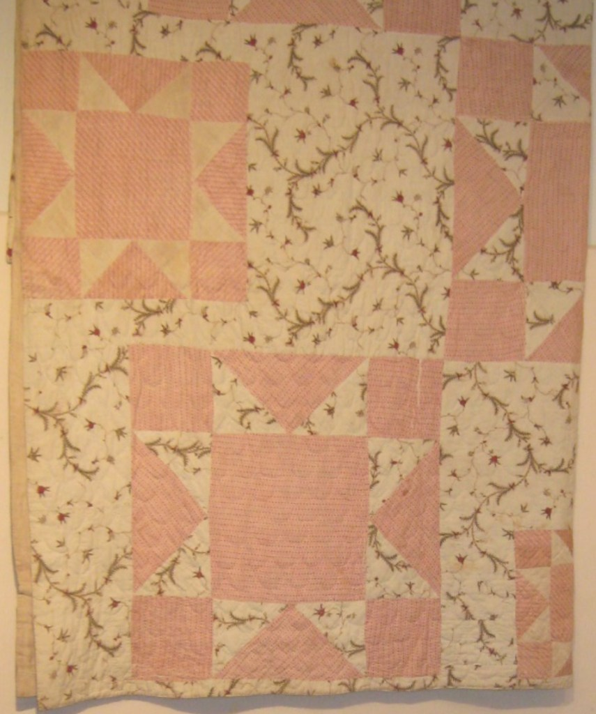 Detail of Polly Freeman's quilt