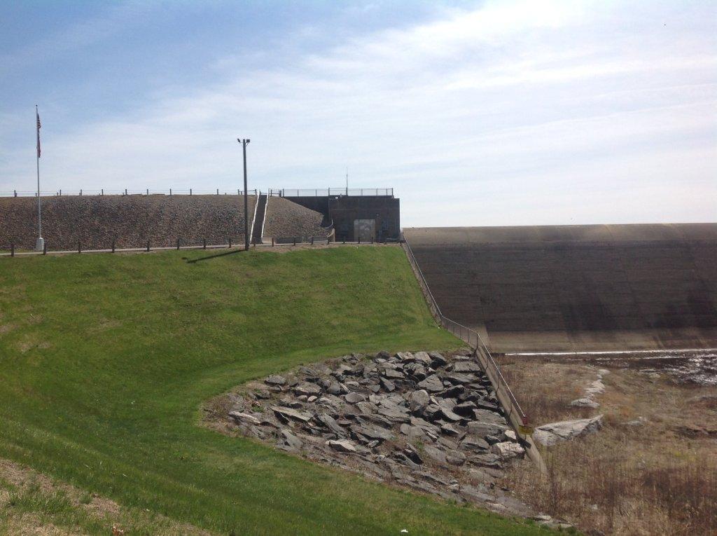 Mansfield Hollow dam October 2020