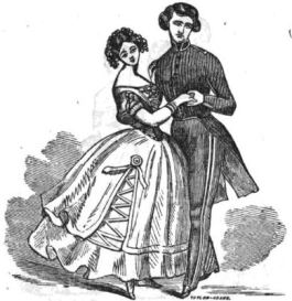 The Polka Redowa. Illustration from American Dancing Master and Ball-Room Prompter (1866)