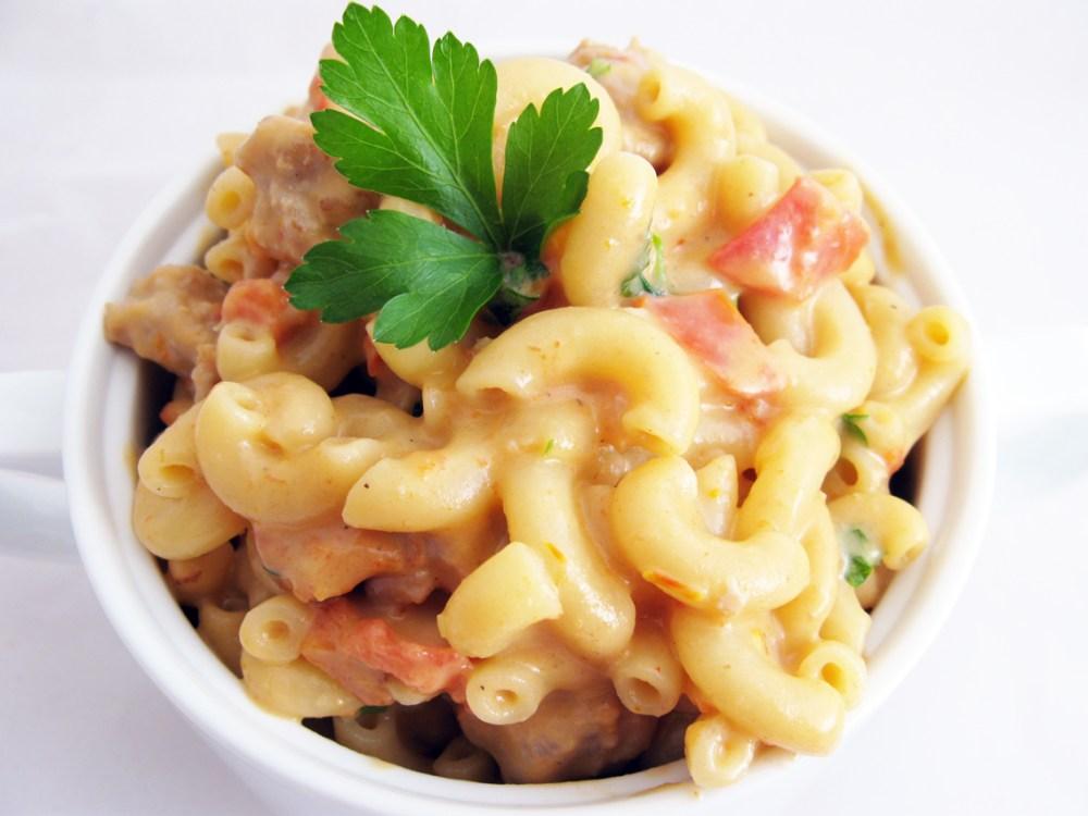 Italian Sausage & Sundried Tomato Alfredo - Quick Pantry Pasta (1/6)