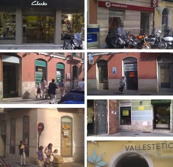 Cierre de locales comerciales en la calle Regalado de Valladolid