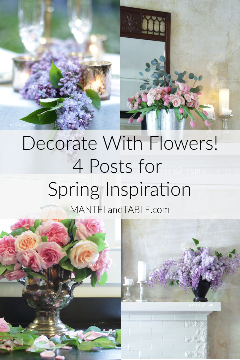 Decorate with Flowers Pinterest Banner