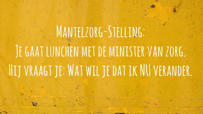 Mantelzorgstelling 5: Nu Veranderen. #praatmee Over Mantelzorg