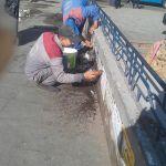 إزالة الملصقات من ميدان رمسيس