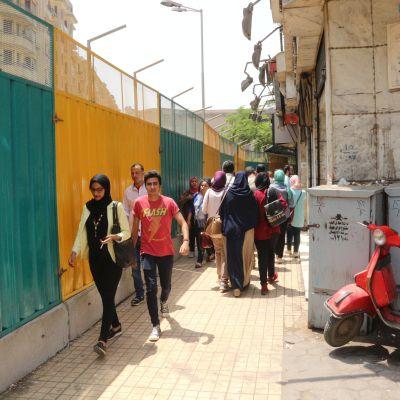 غلق جزئي لشارع 26 يوليو - تصوير: صديق البخشونجي