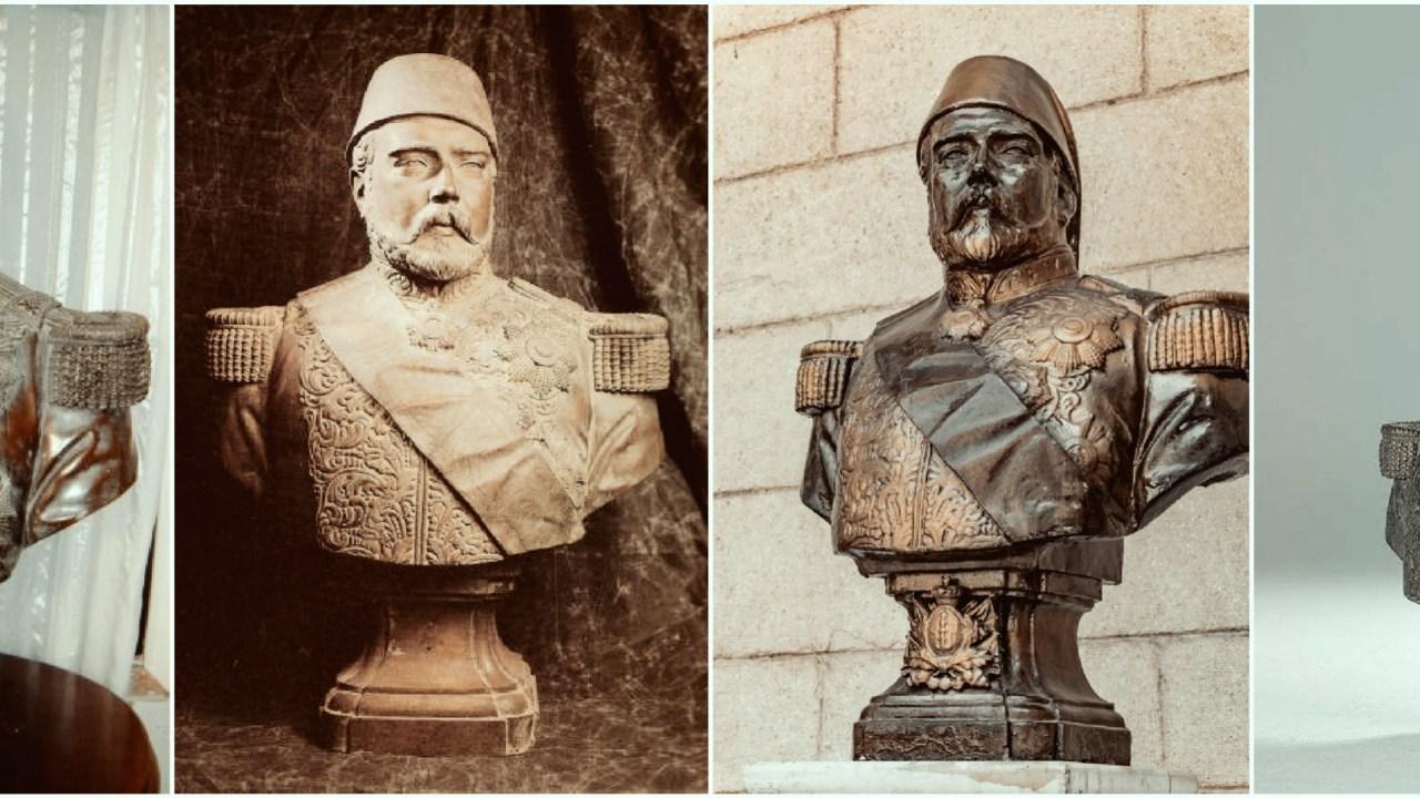 صورة رئيسية تجمع تماثيل الخديوي إسماعيل النصفية، الأصلية والمقلدة