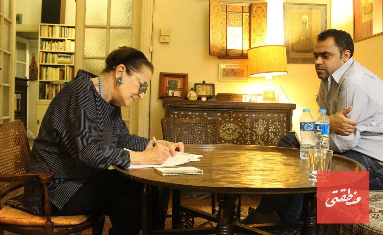 يحيى وجدي خلال حواره مع ماريز - تصوير: أحمد حامد