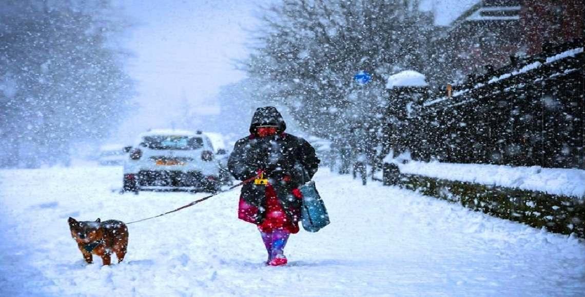 طقس جليدي يجتاح بريطانيا والحرارة 23 تحت الصفر WWW.MANTOWF.COM
