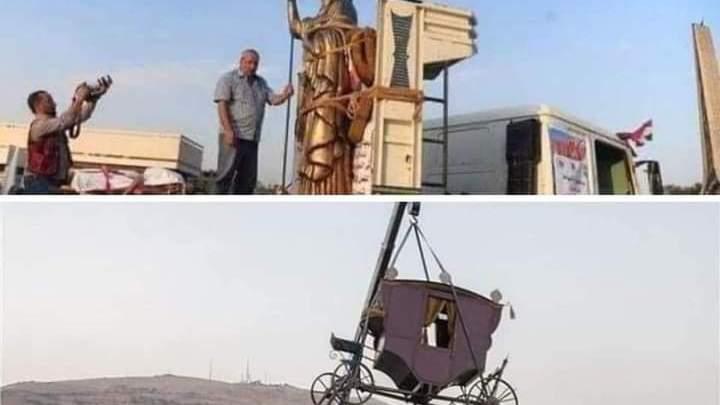 موكب ازطوري ، هكذا نقلت سوريا ( زنوبيا ) في دمشق
