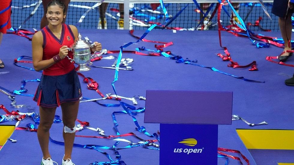 اليافعة رادوكانو تكتب التاريخ في بطولة أمريكا المفتوحة
