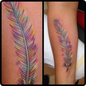 Healed tattoos