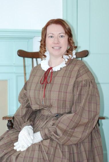 1850s Plaid Cotton Day Dress