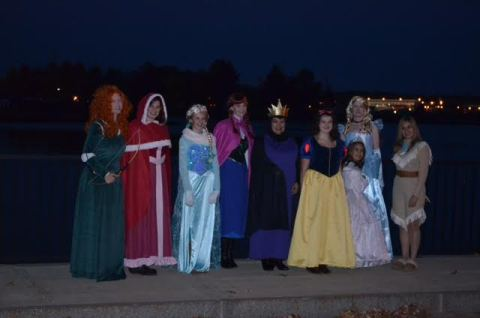 Disney Princesses at Portsmouth Halloween Parade