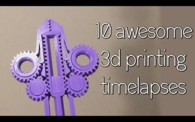 Impresión 3D timelapse.