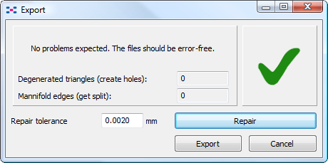 Netfabb Studio: Part export.