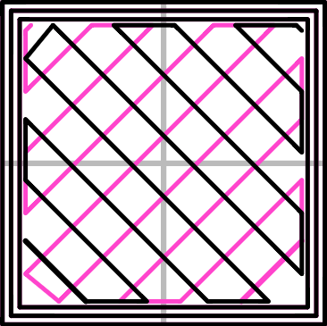 Infill pattern: Rectilinear (350.57mm / 5m:23s)