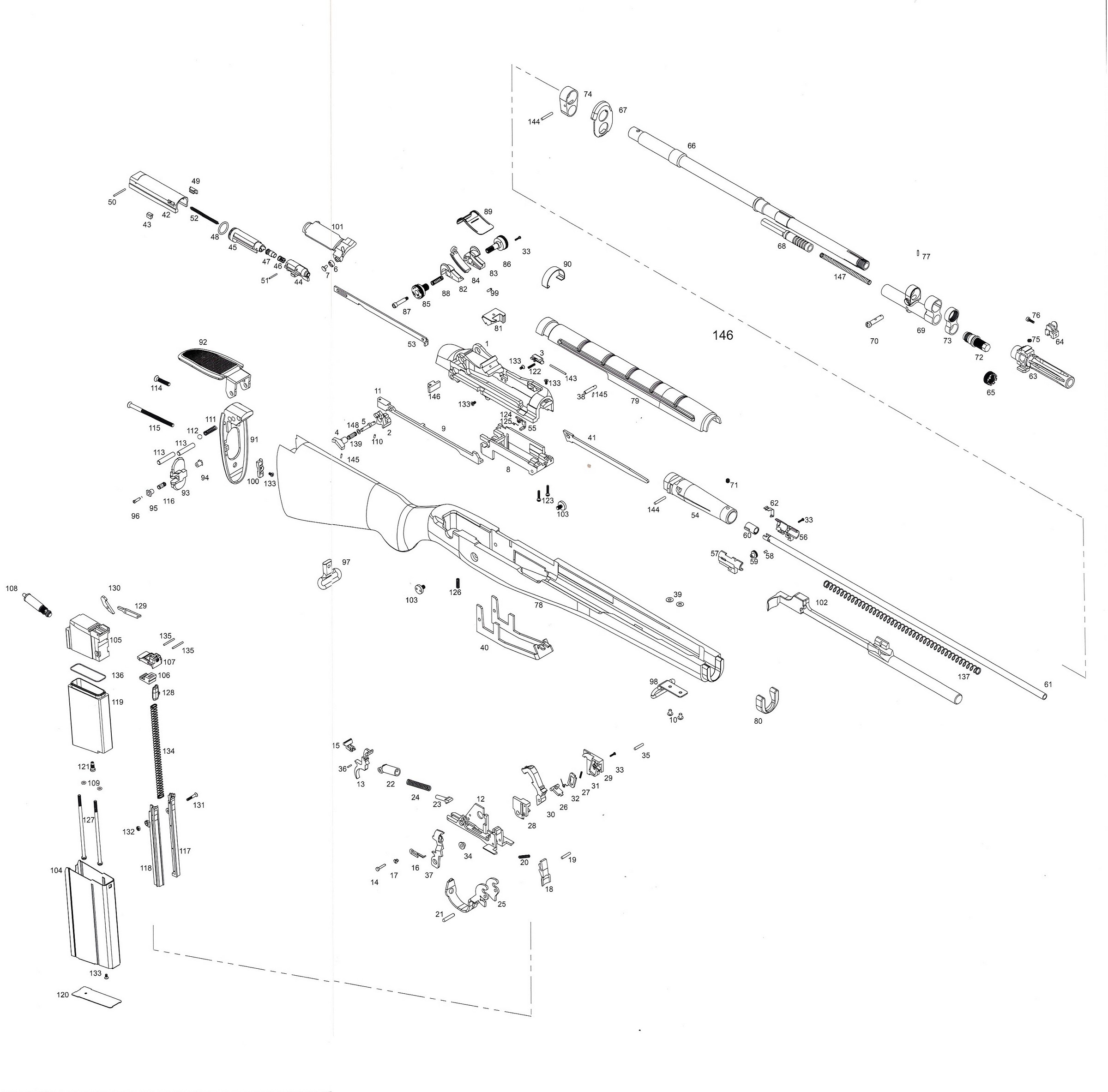 M16a1 Parts Diagram Exploded