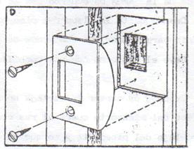 INSTALACION CERRADURA DE POMO: instalar pomo 6