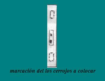 COLOCACION CERRADURAS EN PUERTA DE MADERA: marcación cerrojos