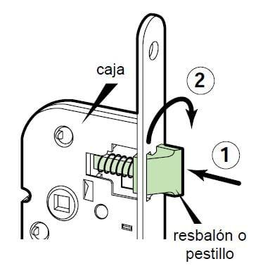 COMO INSTALAR CERRADURAS DE EMPOTRAR cerradura resbalón reversible