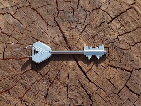 Abrir puerta cerrada con llave doble paleta