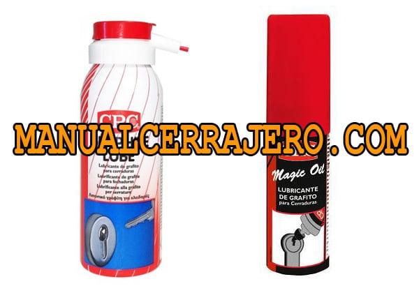 ¿Cómo evitar que las cerraduras se atasquen?. Grafito spray