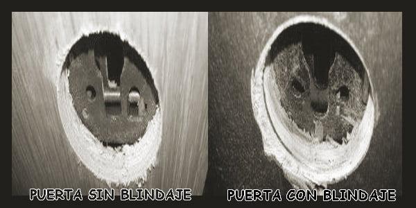 PUERTA SIN BLINDAJE - PUERTA CON BLINDAJE - MANUALCERRAJERO.COM