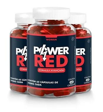 imagem onde mostra 3 frascos de power red que funciona mesmo