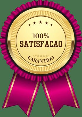 Nessa imagem é mostrado um selo do produto power red que tem uma garantia de satisfação de 100%