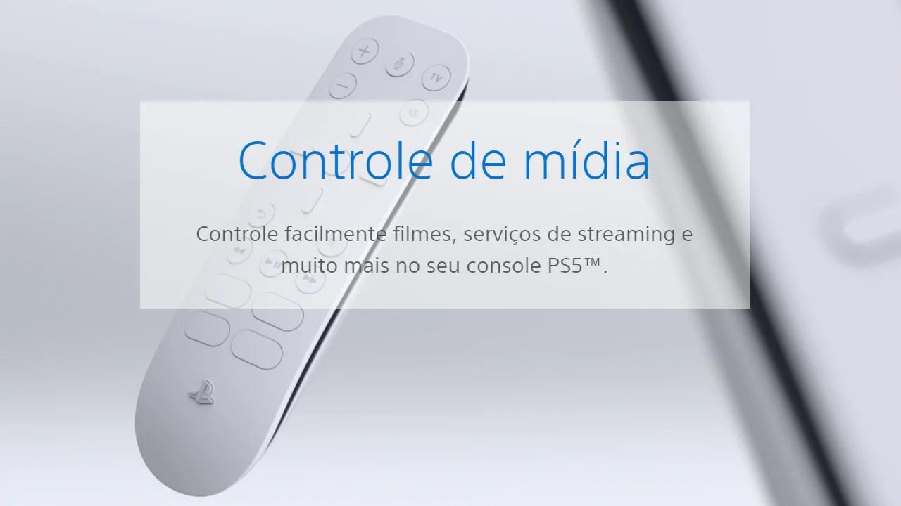 Controle de mídia PS5 Disney+