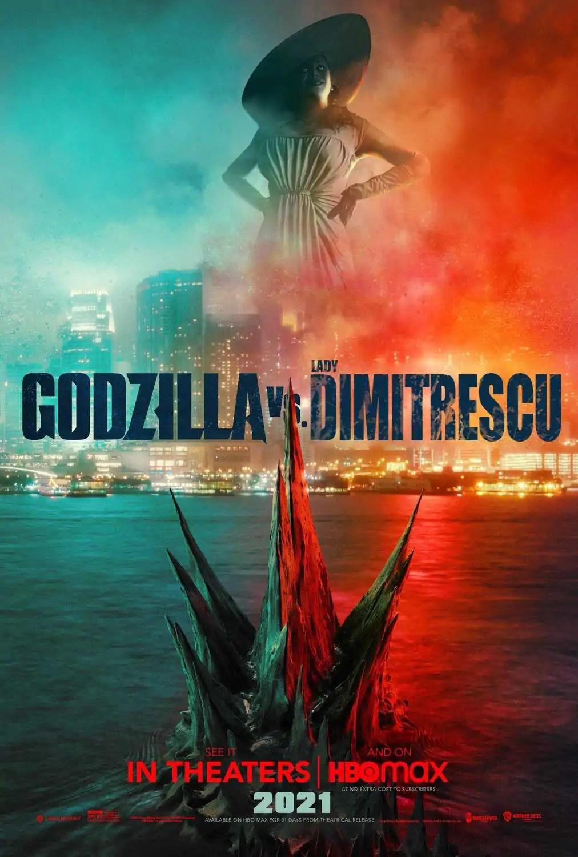 Fãs imaginam Lady Dimitrescu Vs. Godzilla