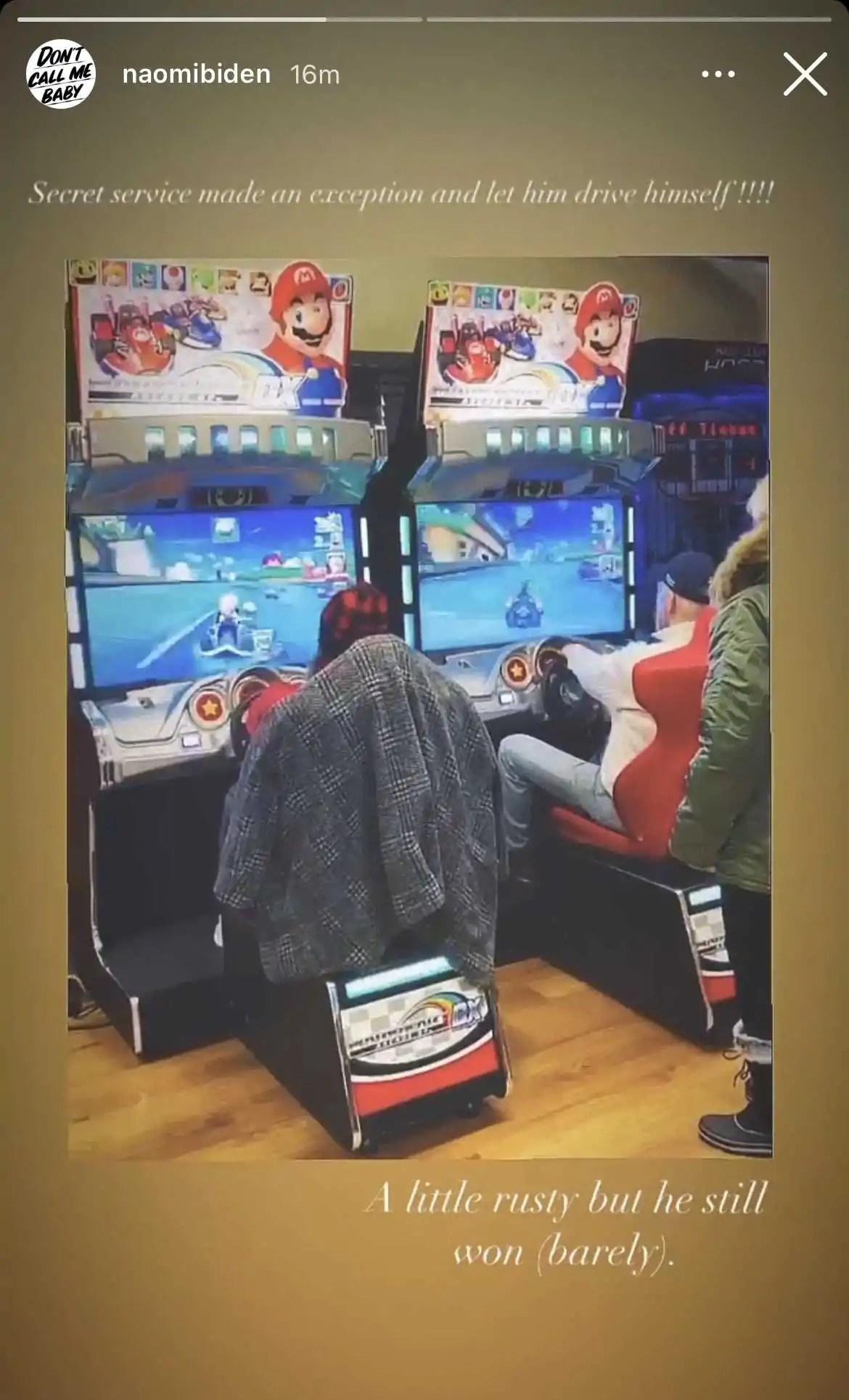 Presidente dos EUA jogou Mario Kart com sua neta para relaxar