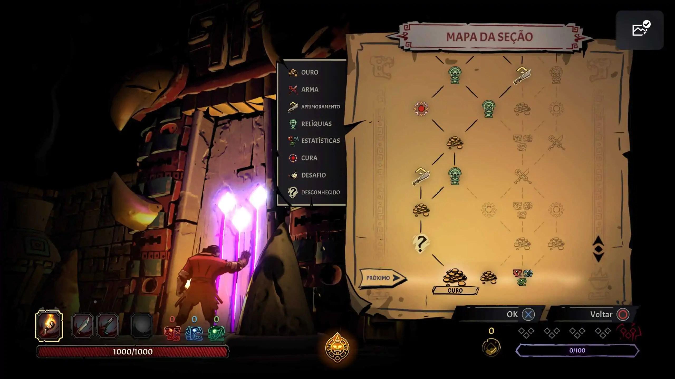 Curse of the Dead Gods - Mapa